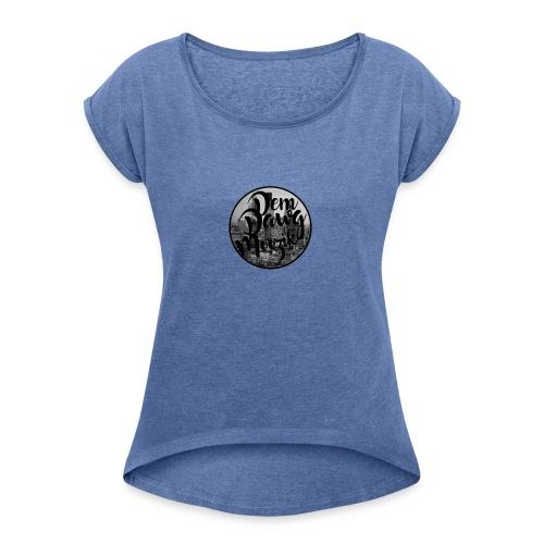 DemDawgLogo - Vrouwen T-shirt met opgerolde mouwen