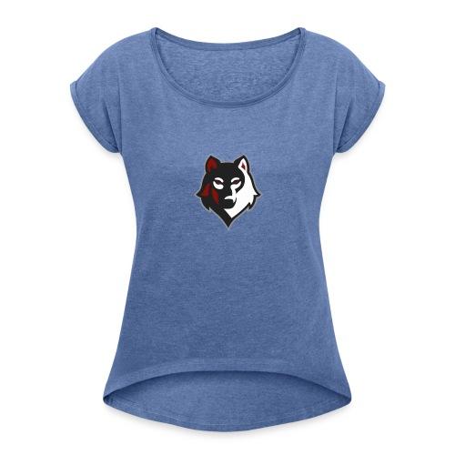 Noskillz Team - Frauen T-Shirt mit gerollten Ärmeln
