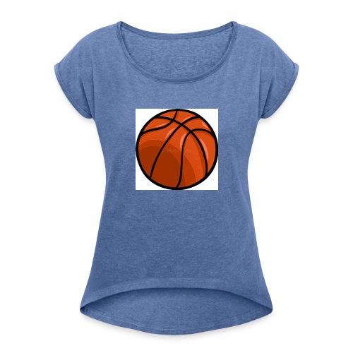 softer kevin k basket - T-shirt med upprullade ärmar dam