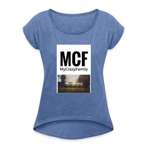 MCF_-3- - Camiseta con manga enrollada mujer