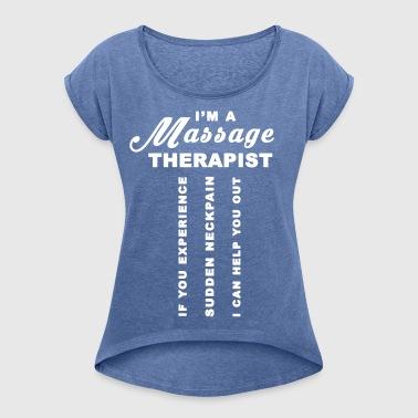 Massageterapeut - T-shirt med upprullade ärmar dam