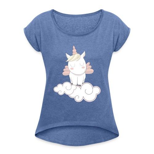 Unicorno - Maglietta da donna con risvolti