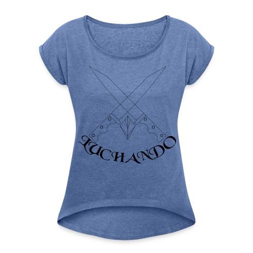 design 1 - Dame T-shirt med rulleærmer