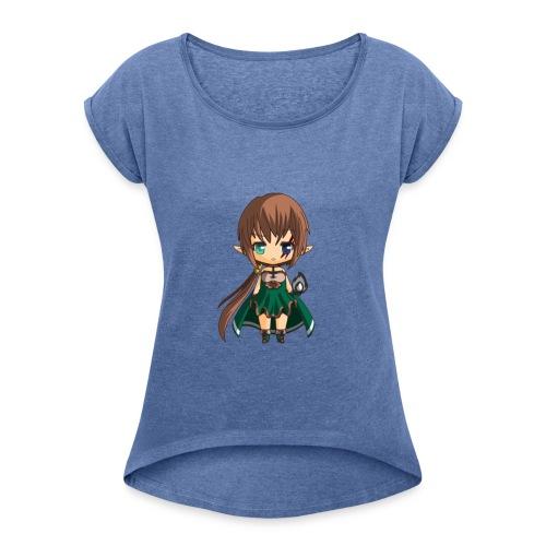 Chibi Gabrielle JDR by Calyss - T-shirt à manches retroussées Femme