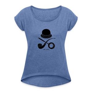 Watson's Club Logo - Frauen T-Shirt mit gerollten Ärmeln