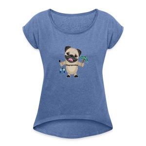DOGGOgaming - T-shirt med upprullade ärmar dam