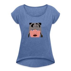 HUB PANDA - T-shirt à manches retroussées Femme