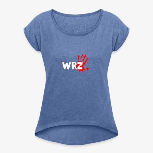 WRZ white version - Women's T-shirt with rolled up sleeves