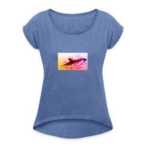 LowpolyWhale - T-shirt à manches retroussées Femme