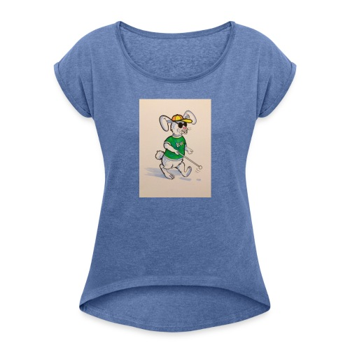 D8E258B9 C408 4AB5 BC9C AD4A1FA0B347 - Women's T-shirt with rolled up sleeves