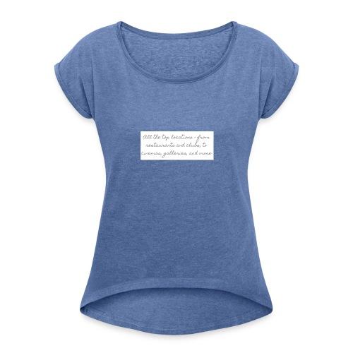 wf - T-shirt med upprullade ärmar dam