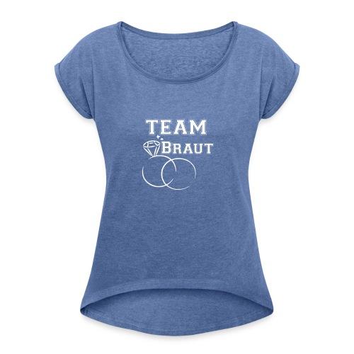 vorne - Frauen T-Shirt mit gerollten Ärmeln