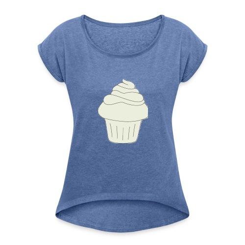 Kuchen - Frauen T-Shirt mit gerollten Ärmeln