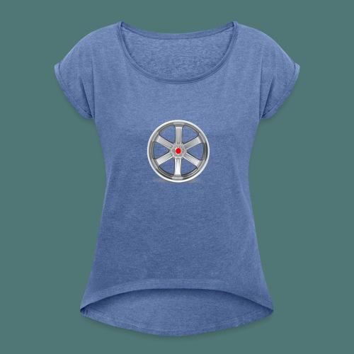 Fälg Silver - T-shirt med upprullade ärmar dam