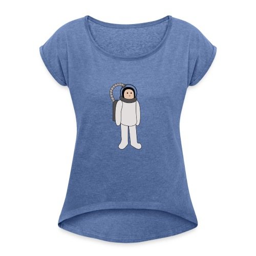 Astronaut - Frauen T-Shirt mit gerollten Ärmeln