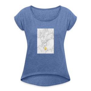 Marble - Women's T-shirt with rolled up sleeves