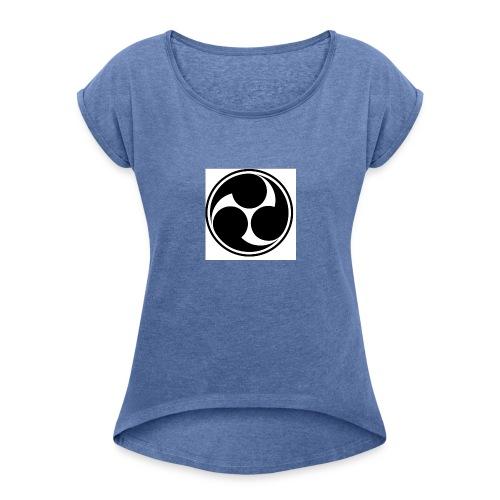 Ninja power - Frauen T-Shirt mit gerollten Ärmeln