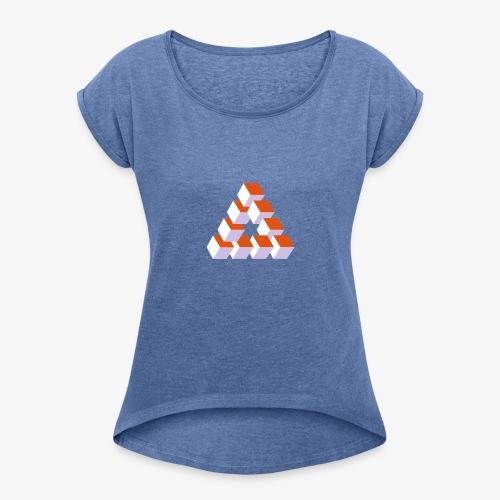 Illusion - T-shirt à manches retroussées Femme
