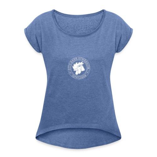 CIRCLE DESIGN - Frauen T-Shirt mit gerollten Ärmeln