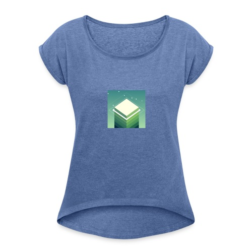 StackMerch - Women's T-shirt with rolled up sleeves