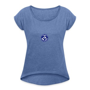 THIS IS THE BLUE CNH LOGO - Women's T-shirt with rolled up sleeves