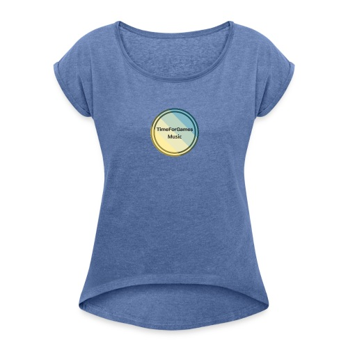 TimeForGames Merchandise - Women's T-Shirt with rolled up sleeves