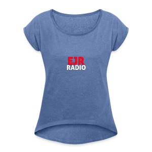 EJR_Words_Logo - Women's T-shirt with rolled up sleeves