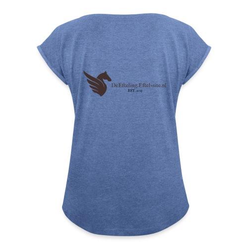 DeEfteling Eftel site nl - Vrouwen T-shirt met opgerolde mouwen