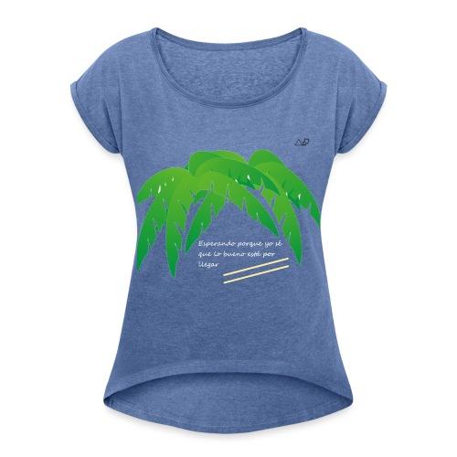 Palmera x OMW - Camiseta con manga enrollada mujer