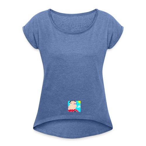 lambooo1 - T-shirt med upprullade ärmar dam