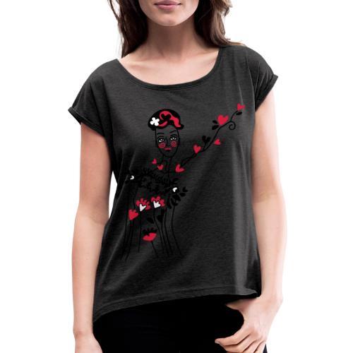 donnina di cuori - Maglietta da donna con risvolti
