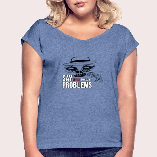 Creepy Essence - Frauen T-Shirt mit gerollten Ärmeln