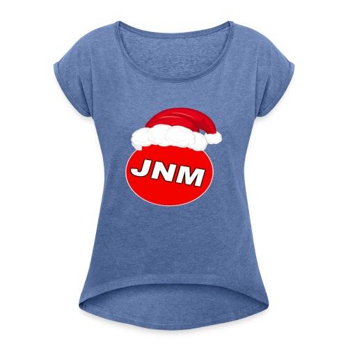 JustNotMe kerst merch - Vrouwen T-shirt met opgerolde mouwen