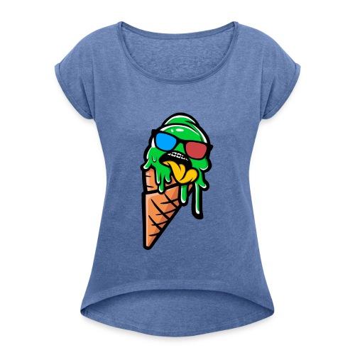 Ice cream Urban - Camiseta con manga enrollada mujer