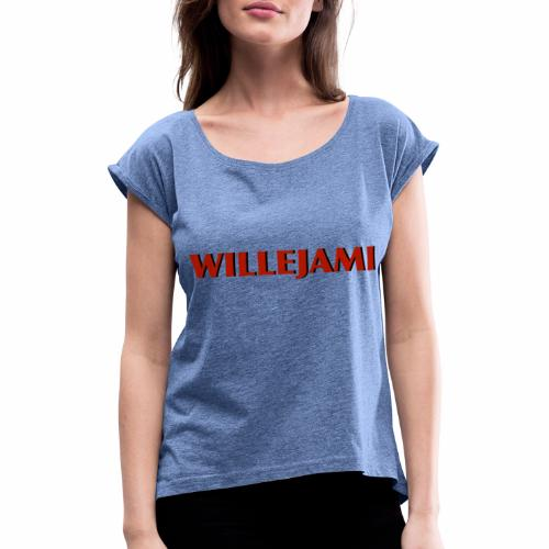 Willejami - T-shirt med upprullade ärmar dam