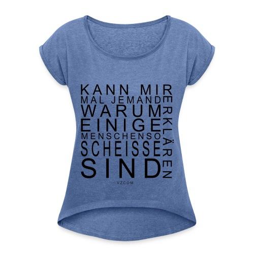 vzcom1 - Frauen T-Shirt mit gerollten Ärmeln