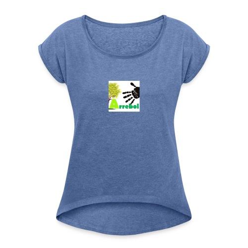 logo_arrebol_bueno - Camiseta con manga enrollada mujer