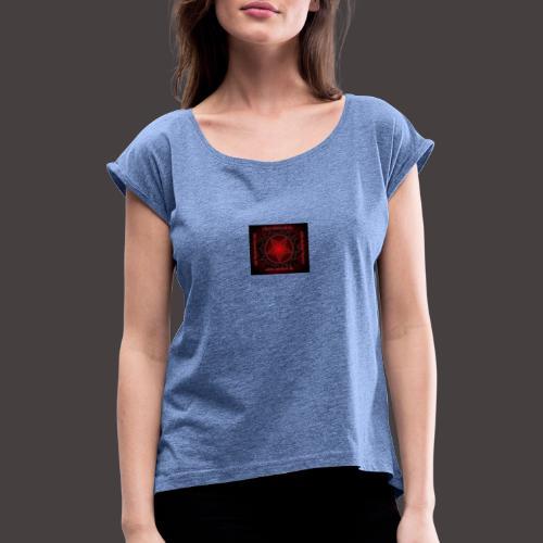 Audela - Frauen T-Shirt mit gerollten Ärmeln