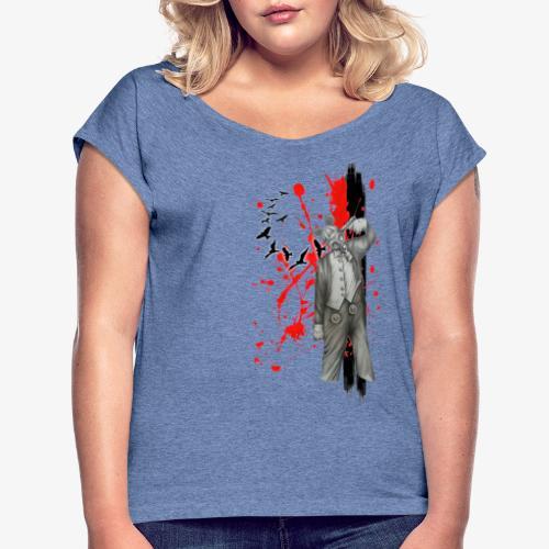 mouse1 - Frauen T-Shirt mit gerollten Ärmeln