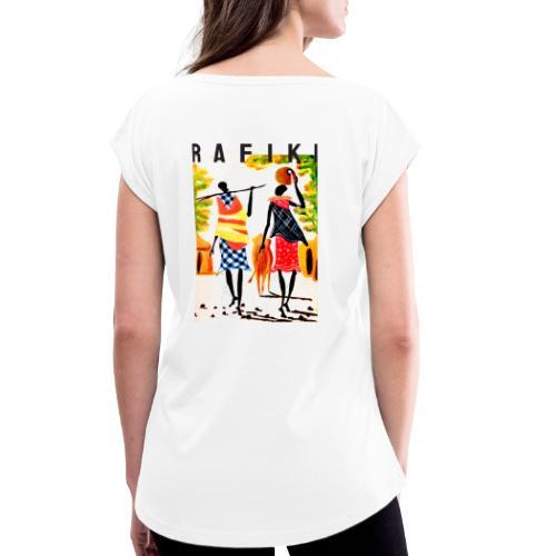 Sct Gemma – Rafiki = Friend - Dame T-shirt med rulleærmer