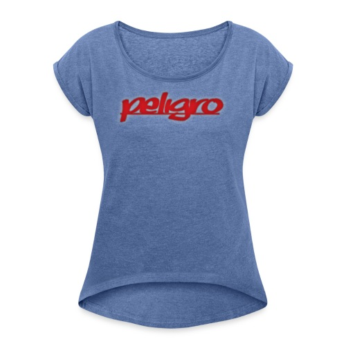 Peligro - Camiseta con manga enrollada mujer