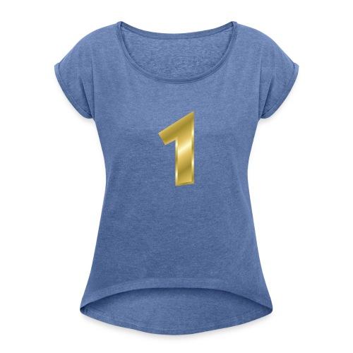 nummer 1 - Frauen T-Shirt mit gerollten Ärmeln