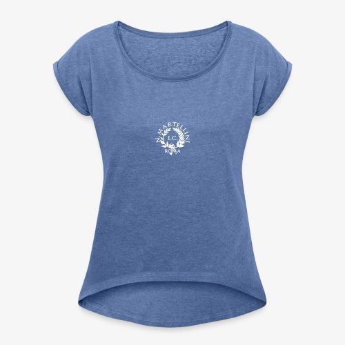 logo martellini - Maglietta da donna con risvolti