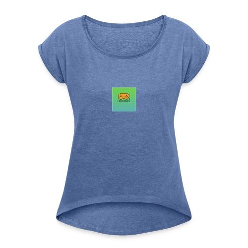 PelleGreen Logo - T-shirt med upprullade ärmar dam