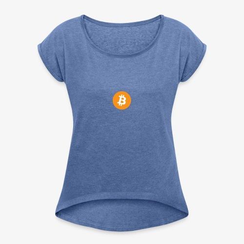 Bitcoin Themed Clothes - T-shirt à manches retroussées Femme