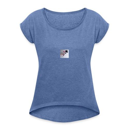 300x300 - T-skjorte med rulleermer for kvinner