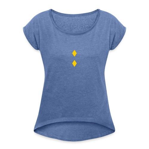 Upseerikokelas - Naisten T-paita, jossa rullatut hihat