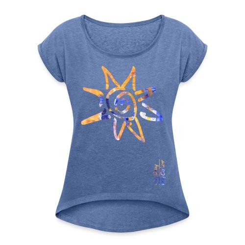myDay SommerSonne - Frauen T-Shirt mit gerollten Ärmeln