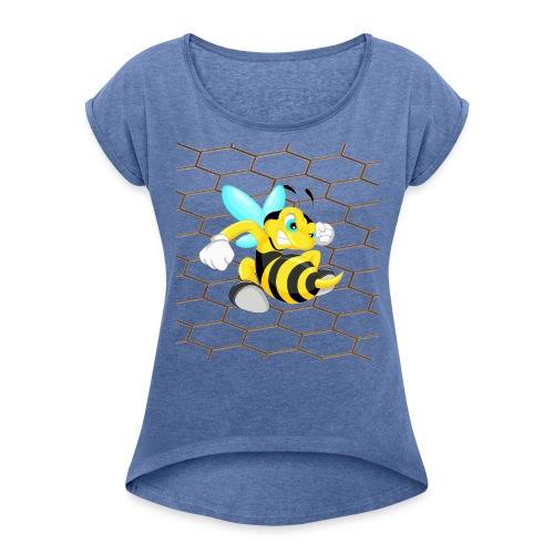 Abeja Guerrera 2 - Camiseta con manga enrollada mujer