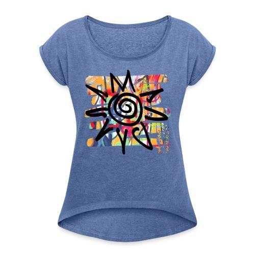 HotDay - Frauen T-Shirt mit gerollten Ärmeln